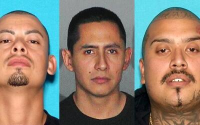 Los fugitivos de la pandilla MS-13 en Los Ángeles (de izquierda a derech...