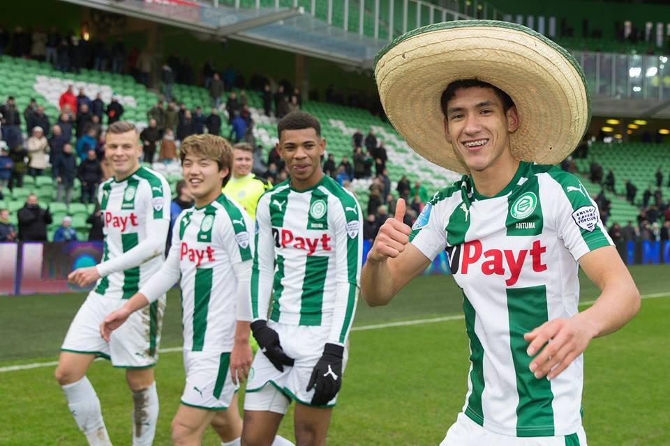 Domingo 21 de enero - Willem II Vs. Groningen: el delantero Uriel Antuna...