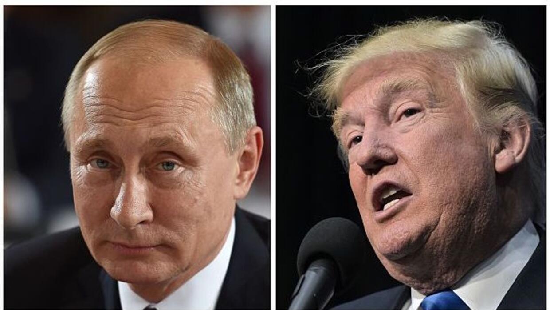 Los presidentes Vladimir Putin (Rusia) y Donald Trump (EEUU)