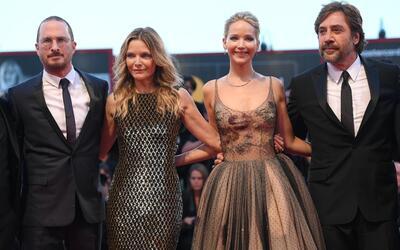 De izquierda a derecha el director Darren Aronofsky y los actores Michel...