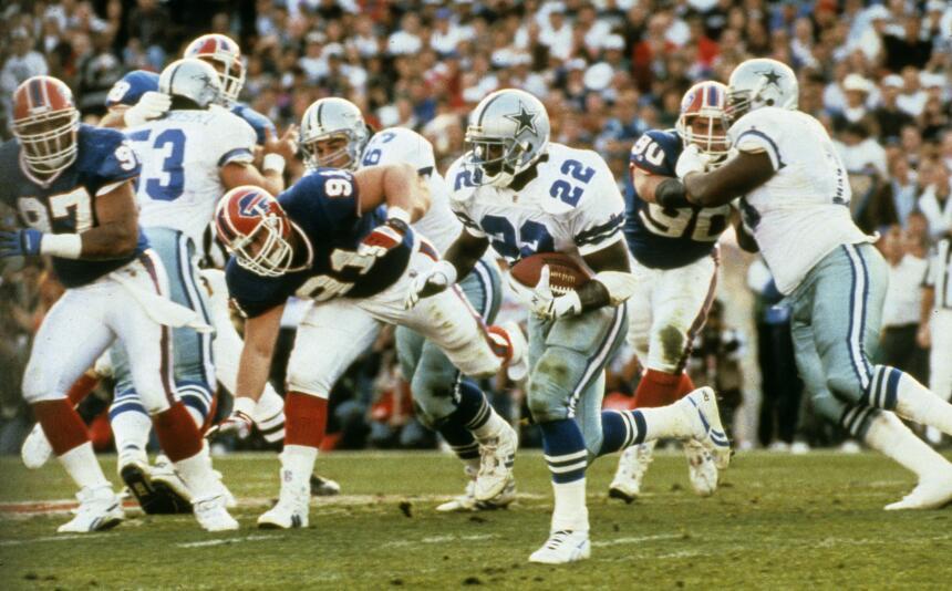 Recuerdo de los 2 Super Bowls Cowboys-Bills
