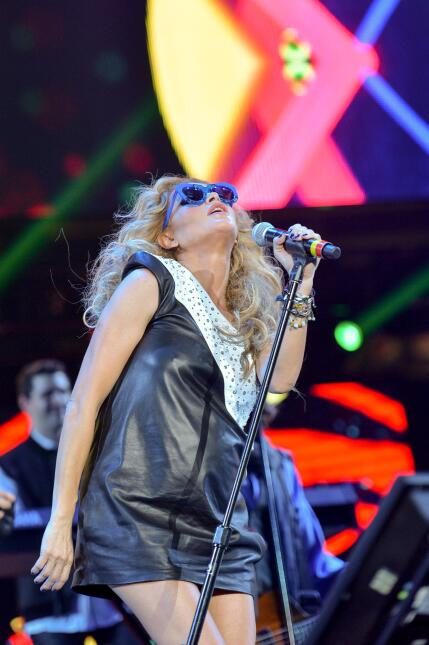 Paulina Rubio embarazada Grand Slam Party Latino