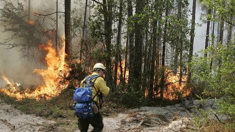 Miles de personas en Charlton County, Georgia, han sido evacuadas por lo...