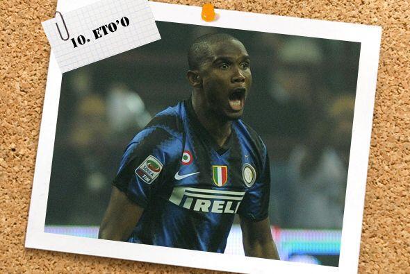 Samuel Eto'o no pudo 'mojar' en el 'derby italiano' ante Juventus, pero...