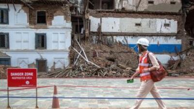 Los daños siguen siendo evidentes en Nepal.