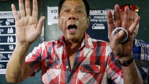 Rodrigo Duterte, nuevo presidente de Filipinas.