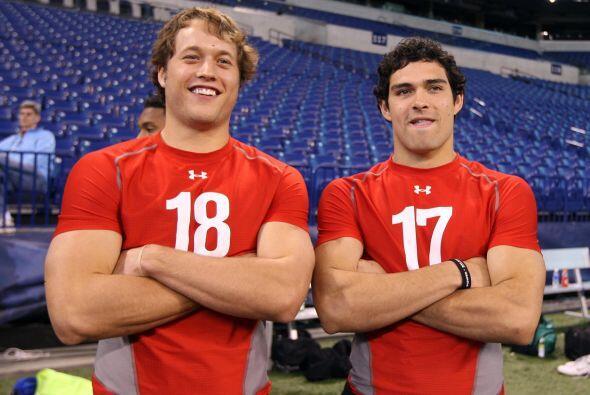 """2009 """" Matthew Stafford, QB de Georgina, y Mark Sánchez de los Troyanos..."""