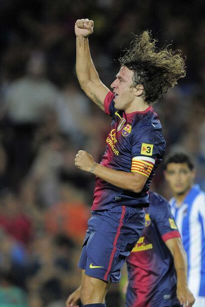 El capitán Carles Puyol metía un potente cabezazo para poner el 1-0.