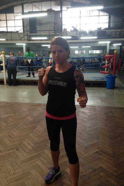 Aunque también trabaja duro y es peligrosa en el boxeo (Foto Twitter)
