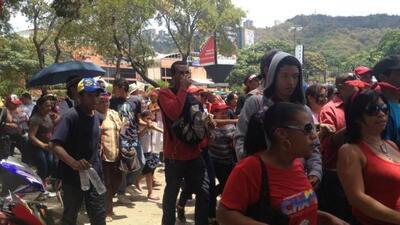 Momentos de tensión se vivieron en Caracas cuando se corrió el rumor de...