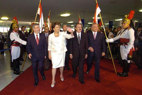 Rousseff se atragantó por la emoción en un momento de su discurso cuando...