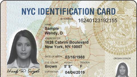 Modelo de la tarjeta de identificación utilizado por los residentes de l...