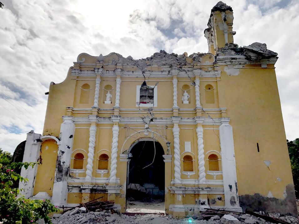Terremoto iglesia de Atzala