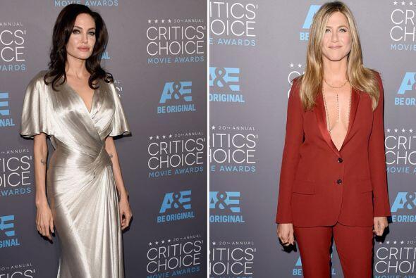 La alfombra roja de los Critics' Choice Awards junto a Angelina Jolie y...