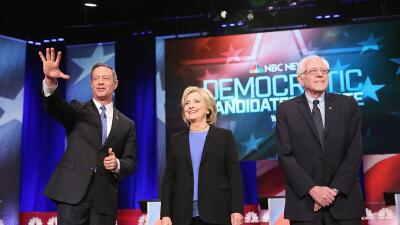 O'Malley, Clinton y Sanders