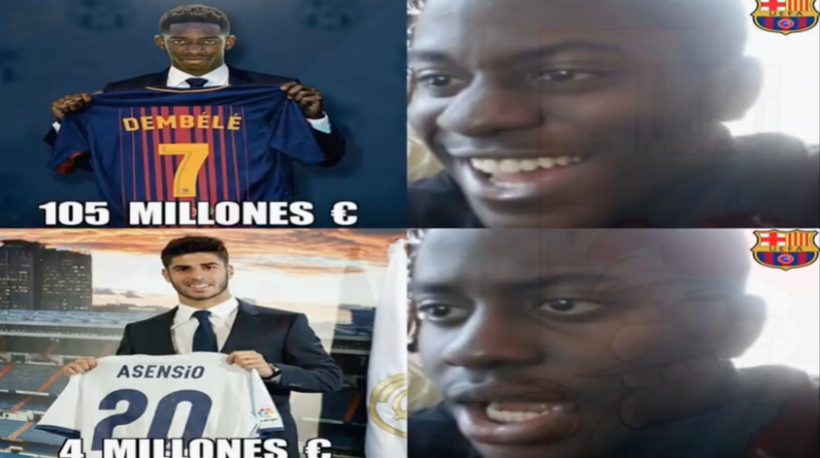 Ousmane Dembélé vuelve a los entrenamientos con Barcelona Captura de pan...