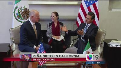 Paña Nieto se reunirá con Brown en Sacramento