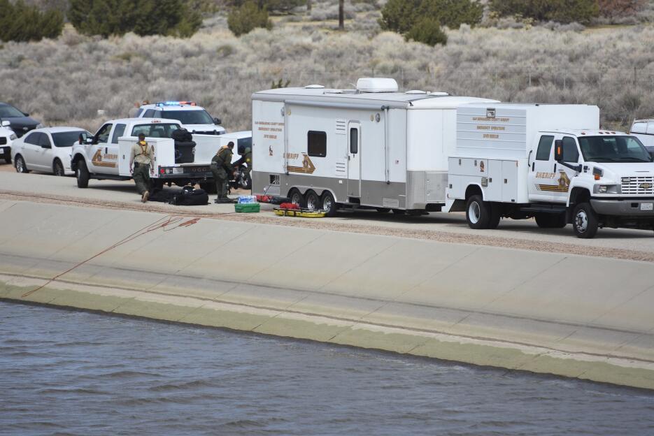 El equipo de rescate del Sheriff que participó en la localización del me...