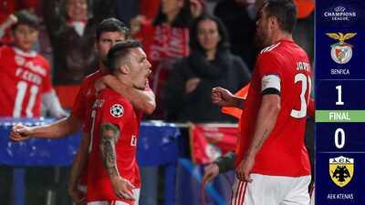 El Benfica obtiene su pase a la Europa League a expensas del eliminado AEK de Atenas