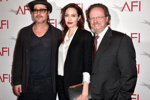 Brad y Angelina con Bob Gazzale