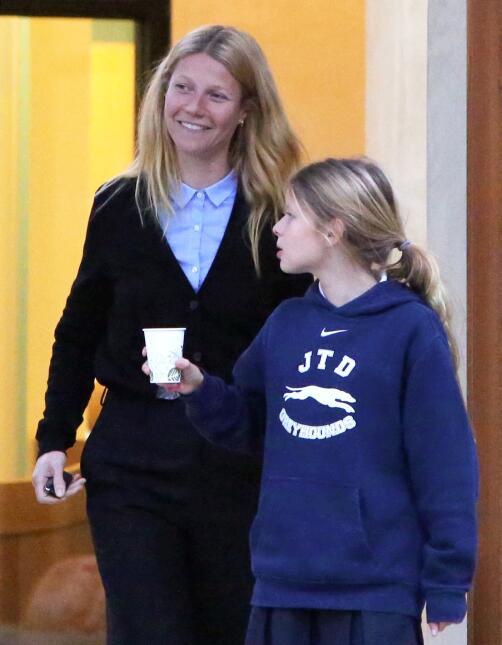 Más fotos de Gwyneth sin maquillaje.