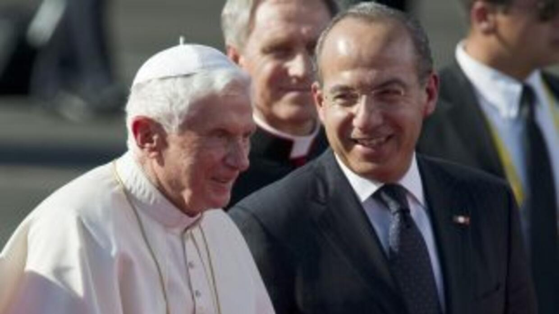 Benedicto XVI se reunió con el presidente Felipe Calderón.
