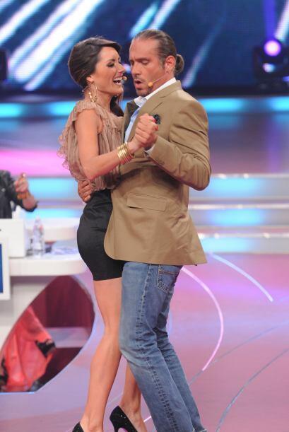 Los dos jueces formaron una hermosa pareja de baile...