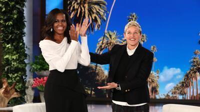 Michelle Obama gabró junto a la conductora Ellen Degeneres su primera ap...