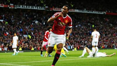 Anthony Martial marcó el gol que aseguró la victoria del Manchester United.