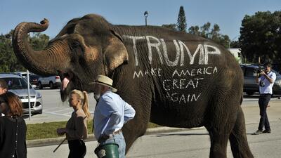 Evento de apoyo a Trump en Sarasota, Florida