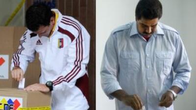 Henrique Capriles y Nicolás Maduro ya votaron.