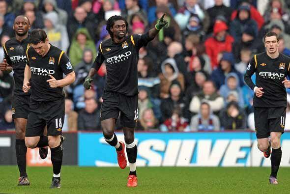 A los 4 minutos Adebayor hizo el primero. El togolés anotó dos tantos.