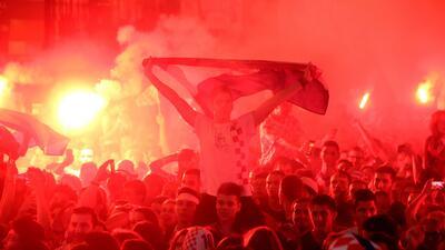 En fotos: Croacia encendió su fiesta por volver a semifinales luego de 20 años