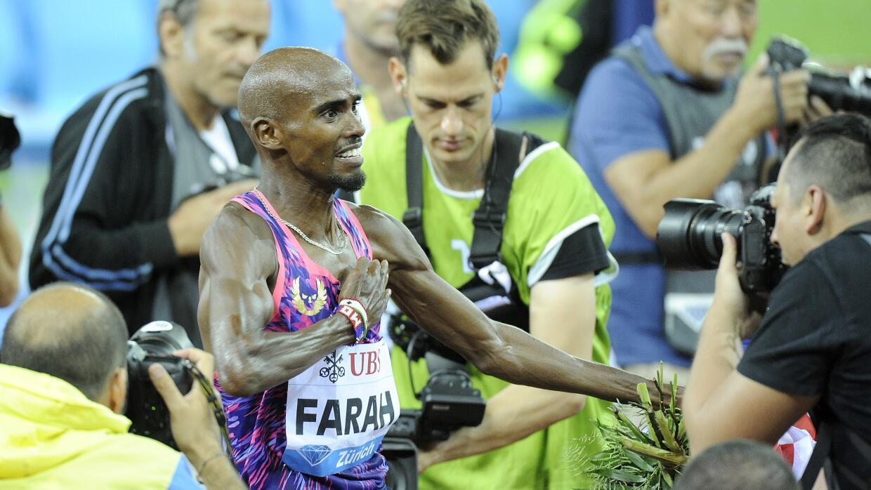 Mo Farah en su última carrera antes de dar el salto al maratón.