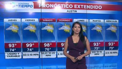 Temperaturas cálidas y cielos parcialmente nublados en Austin