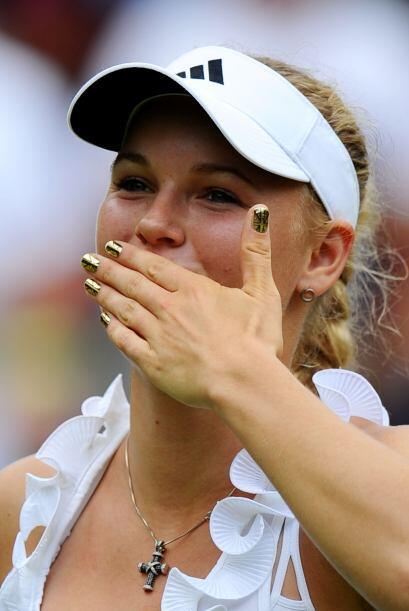 La danesa lució contenta y satisfecha, pues quiere ganar su primer Grand...