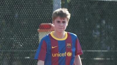 Justin Bieber es fanático del Barcelona