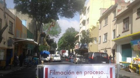 Filmación en progreso