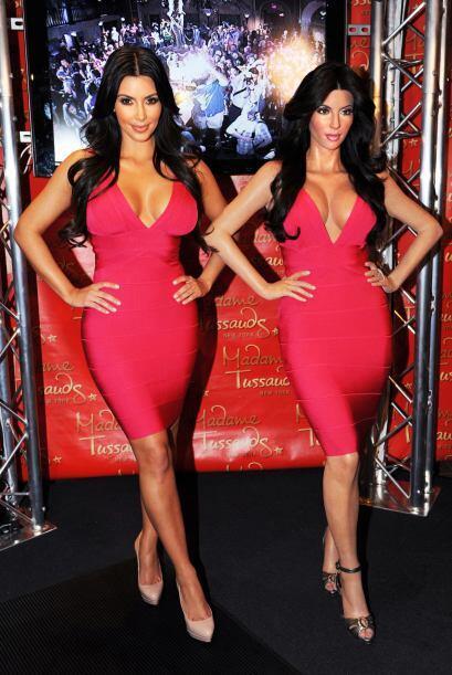 La figura de cera de Kim Kardashian no podia faltar, ¿le habrá gustado s...