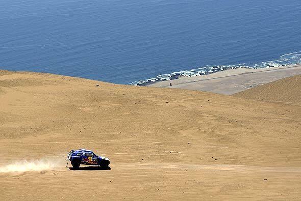 La combinación de la arena y el agua ofreció un espectáculo natural.