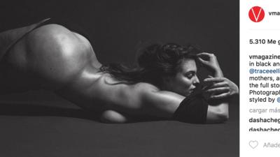 """Desnuda y sin complejos: así posó Ashley Graham, la """"modelo plus-size"""", para V Magazine"""