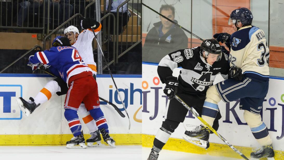 La agresividad como elemento natural del hockey sobre hielo Getty-primer...