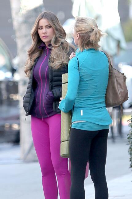 Sofía Vergara y Julie Bowen graban escenas de su show