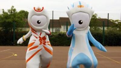 Las dos mascotas de la Olimpiada Londres 2012.