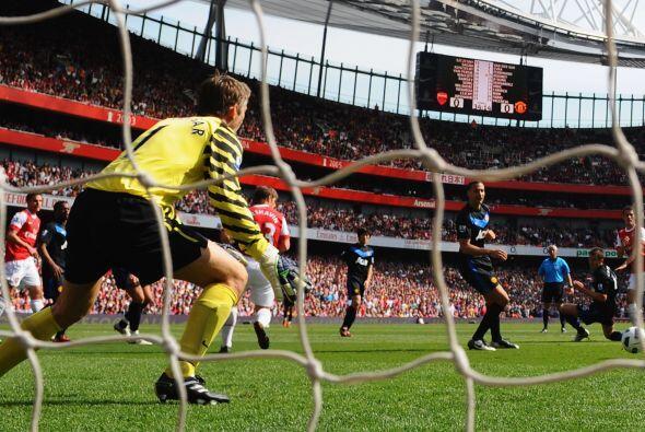 Aquella tarde, Ramsey estuvo inspirado y marcó su primer gol de la tempo...