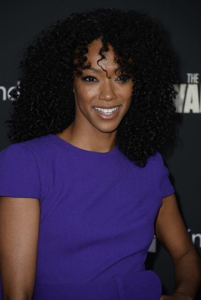 Sonequa Martin-Green entró en la tercera temporada. Ella es Sasha...