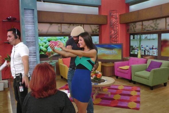 Ana también se tomó la foto del recuerdo para mostrarla a sus seguidores.