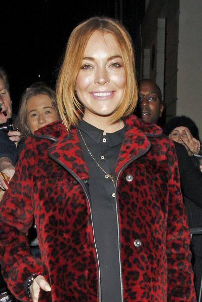 Lindsay Lohan es una de las famosas que le gusta estar en boca de todos.