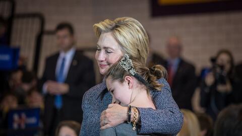 La imagen fue tomada en un evento de Iowa el diciembre pasado