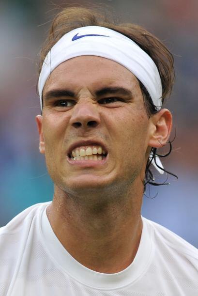 Además del excelente tenis de Nadal, con esta cara vaya que sí intimidar...
